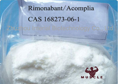 99% Assay Strongest Fat Burning Steroid Acomplia Rimonabant White Powder 168273-06-1
