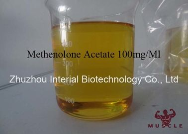 China Bodybuilding Steroid Powder Methenolone Acetate 100mg / Ml Yellow Liquid factory