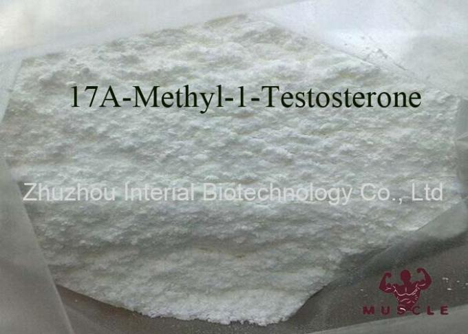 Androgens White Powder Strongest Testosterone Steroid 17a Methyl 1 Testosterone 98% CAS 65-04-3