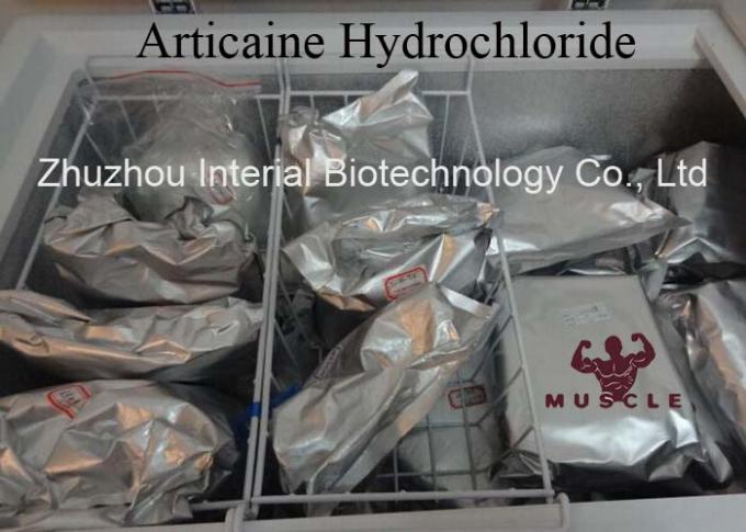Local Anesthetic Analgesic Powder Articaine Hydrochloride For Anti Paining CAS 23964-57-0